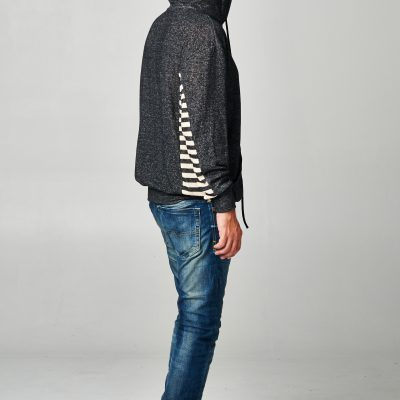 Indie Asymmetrical Hoodie for Men