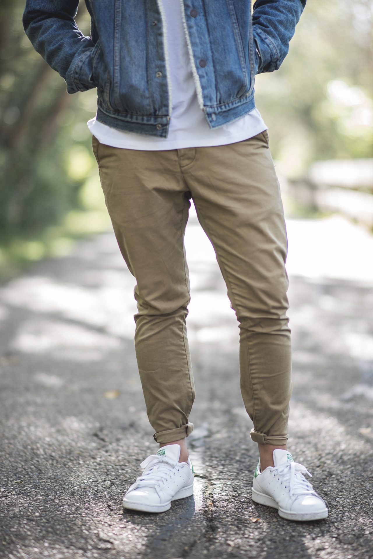 Casual Pants with White T shirt for Men
