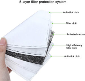 5 Layer Filter Protection Face Mask